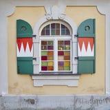 Malerisches Fenster, Bamberg, Deutschland Stockfotos