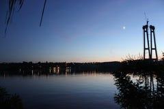Malerisches landskape am Abend lizenzfreie stockbilder