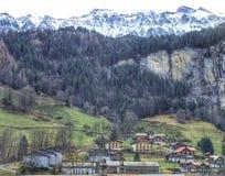 Malerisches Schweizer Chalet Stockfoto