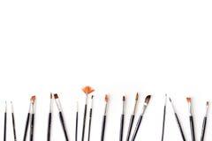 Malerpinsel auf Weiß Lizenzfreies Stockfoto