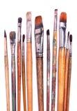 Malerpinsel auf Weiß Stockfotografie