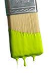 Malerpinsel-Bratenfett-Farbe Stockfoto