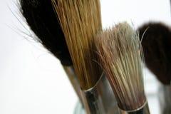 Malerpinsel in einem Glas Lizenzfreies Stockfoto