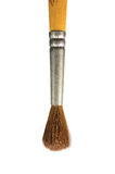 Malerpinsel, lokalisierte alte benutzte der natürlichen Makronahaufnahme Haar-Borste des Eichhörnchenpinsels, vertikal Stockfoto