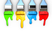 Malerpinsel und Lack lizenzfreie abbildung