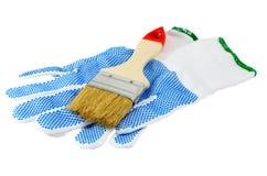 Malerpinselschutzhandschuh Stockbilder
