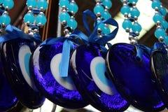 Males de ojo, ojos azules de los amuletos Fotos de archivo libres de regalías