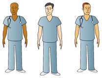 Males In Scrubs Stock Photography