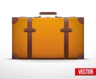 Maleta clásica del equipaje del vintage para el viaje Fotos de archivo