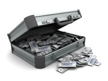 Maleta con el dinero Fotografía de archivo libre de regalías