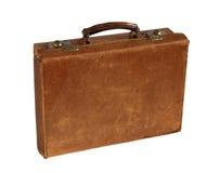 Maleta de cuero vieja Fotos de archivo libres de regalías