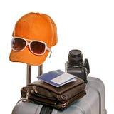 Maleta de las vacaciones de verano Imagen de archivo libre de regalías