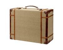 Maleta de madera de la arpillera de Deco con la trayectoria de recortes Imagen de archivo libre de regalías