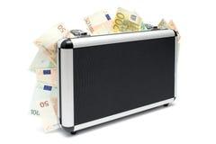 Maleta del dinero Foto de archivo libre de regalías