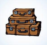 maleta Gráfico del vector Fotografía de archivo