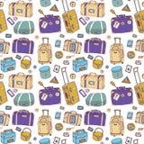 maletas Fondo inconsútil Imágenes de archivo libres de regalías