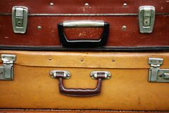Maletas viejas Imagen de archivo libre de regalías