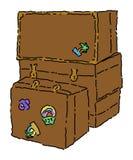 Maletas y troncos Imágenes de archivo libres de regalías
