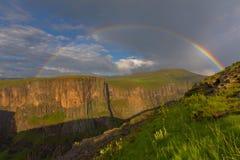 Maletsunyane regnbåge Arkivfoto