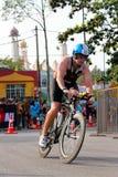 Malezja żelaza mężczyzna 2014 początek 180km rower obrazy stock