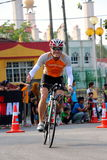 Malezja żelaza mężczyzna 2014 początek 180km rower fotografia stock