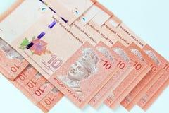 Malezja banknotu bielu tło Obrazy Royalty Free