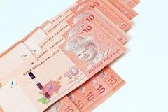 Malezja banknotu bielu tło Obraz Royalty Free