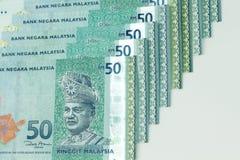 Malezja banknotu bielu tło Fotografia Royalty Free