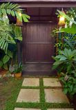 Malezja domu ogródu drzwi etniczny wystrój Zdjęcia Royalty Free