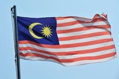 Malezja flaga Zdjęcie Stock