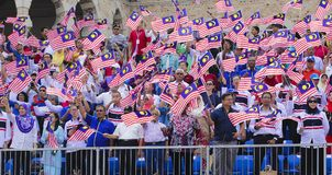 Malezja flaga, Jalur Gemilang Obraz Stock