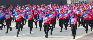 Malezja flaga, Jalur Gemilang Zdjęcie Royalty Free