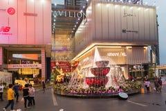 Malezja, Kuala Lumpur - 2017 Grudzień 07: Pawilon robi zakupy mal Zdjęcia Stock