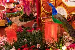 Malezja, Kuala Lumpur - 2018 Luty 05: Colourful dekoracja Obrazy Royalty Free