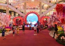 Malezja, Kuala Lumpur - 2018 Luty 05: Colourful dekoracja Obraz Stock