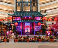 Malezja, Kuala Lumpur - 2018 Luty 07: Colourful dekoracja Obraz Royalty Free