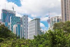 Malezja, Kuala Lumpur pejzażu miejskiego widok - 2017 Grudzień 07 - Obrazy Stock