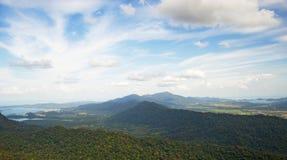 Malezja, Langkawi Widok od ptaka oka widoku Zdjęcia Stock