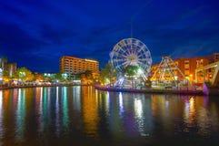 MALEZJA, MARZEC - 23: Malacca oko na bankach Melaka rzeka dalej Obraz Royalty Free
