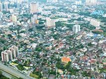Malezja miasta widok z bungalowami i autostradą obraz royalty free
