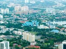 Malezja miasta widok z parkiem obrazy stock