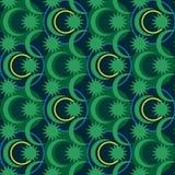 Malezja okręgu batika symetrii bezszwowy wzór Zdjęcie Royalty Free