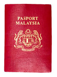 Malezja paszport Fotografia Royalty Free