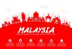 Malezja podróży punkty zwrotni Fotografia Stock