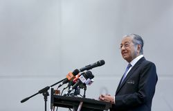 Malezja premier Mahathir Mohamad obrazy stock