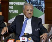 Malezja premier Mahathir Mohamad obraz stock
