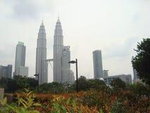 Malezja ` s bliźniacze wieże obraz royalty free