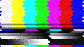 Malfuncionamiento de las barras de color de la TV Fotos de archivo libres de regalías