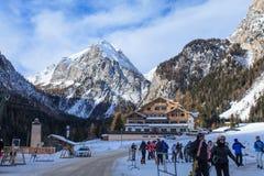 Malga Ciapela wioska w Włoskich Alps Obraz Stock