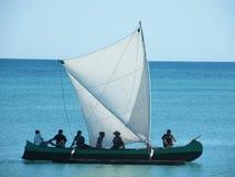 Malgache indigène sur le bateau Photo libre de droits
